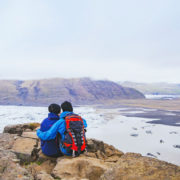 couple hikers iceland