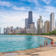 Chicago summer beach day