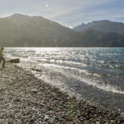 strolling around Lake Wanaka, New Zealand, in the late afternoon.