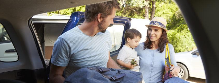 family packing summer travel