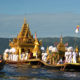 Royal Karaweik Barge in Phaung Daw Oo Pagoda festival,Myanmar. Legs
