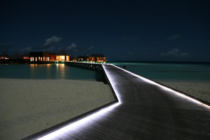 Night scense of Maldives