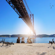 Cycling through Lisbon, Portugal