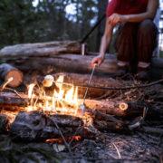 Roasting Marshmallows at Summer Camp