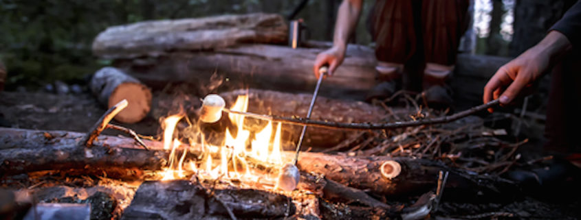 Roasting Marshmallows at Summer Camp
