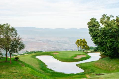 Hole#10, Mae Moh golf course, Lampang, Thailand.