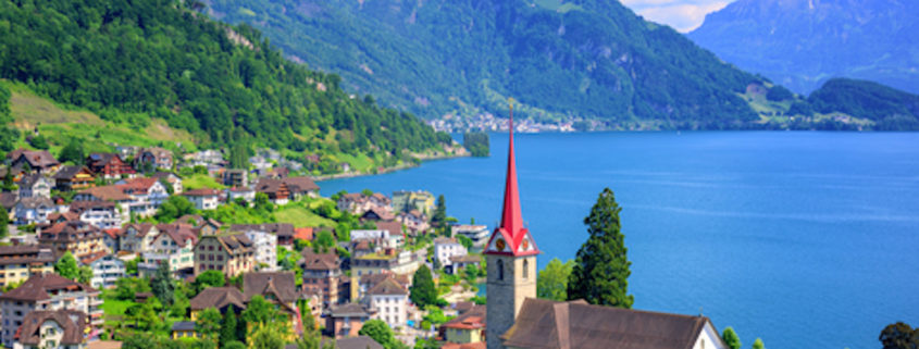 Lake Lucerne and Alps, Switzerland