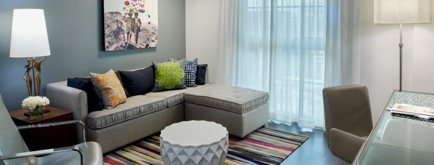 Colonnade Guest Room Seating Area