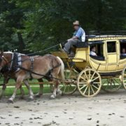 A genuine Concord Coach at Old Sturbridge Village Massachusetts