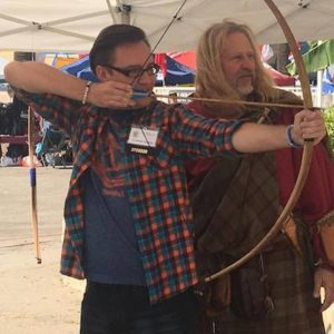 Highland Games Graham Osberg and Rod Scoville