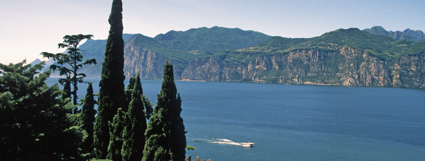 Lake Garda from the castle, Lake Garda, Garda, Italy