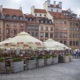 Houses and restaurants on the Old Town Market Place, main square of Old Town in Warsaw