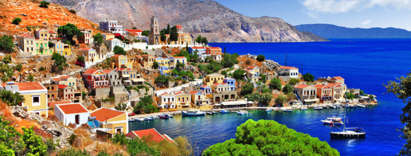 Beautiful Greek island of Symi