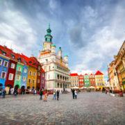 Poznan, Posen market square, old town, Poland.