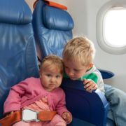 Little kids on the plane