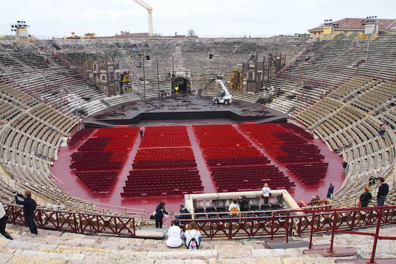1st Century Opera Set in Roman Arena in Verona, Italy © Stillman Rogers