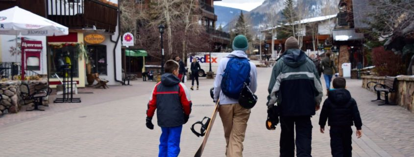 Family in Vail, Colorado