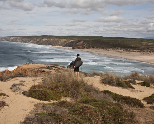 Hiking the dunes at Bordeira in Portugal's western Algarve