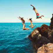 Cliff Jumping Family in Hawai'i