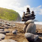 rocky beach of Pololu Valley, Big Island, Hawaii