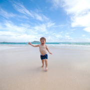 Toddler running on the beach in Hawai'i © Miniimpressions | Dreamstime.com