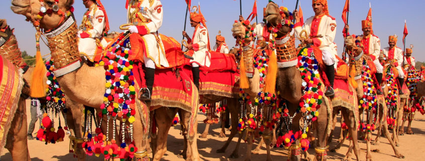 Camel Procession at Desert Festival, Jaisalmer, Rajasthan, India © Donyanedomam | Dreamstime.com