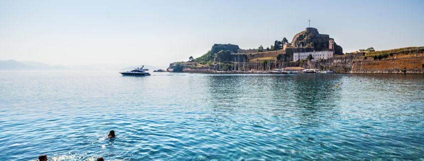 Swimming in Corfu © Alfio Finocchiaro | Dreamstime.com