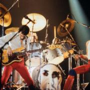 Queen during a concert in the Groenoordhallen in Leiden, Netherlands 1980 © Buurserstraat386 | Dreamstime.com