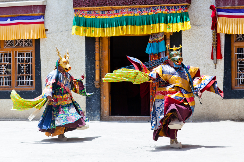 Cham Dance during Losar Festival © Zzvet | Dreamstime.com