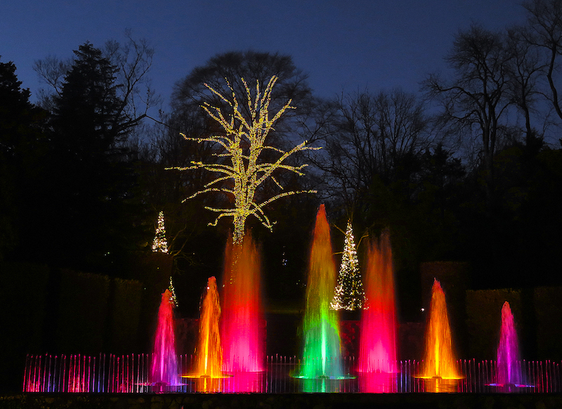 Night lighting, Longwood Gardens © Stillman Rogers