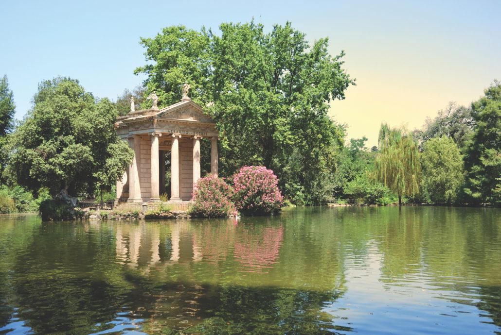 Villa Borghese gardens, Rome --Photo 7571826 © Timehacker - Dreamstime.com