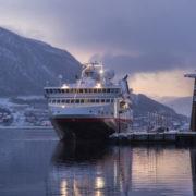 Hurtigruten ship M/S Spitsbergen moored TromsÃ