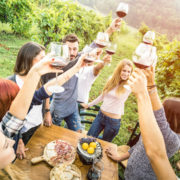 Winery with adult children and friends © Mirko Vitali | Dreamstime.com