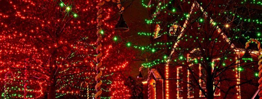 Ohio Village Christmas Lights © Kenneth Sponsler   Dreamstime.com
