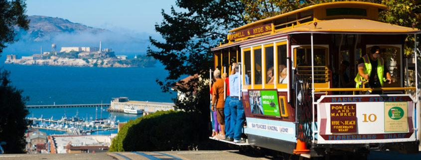 Alcatraz in the distance, San Francisco, California