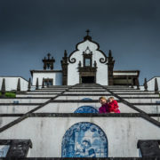 Climbing the chapel steps in Azores, Portugal © Paop | Dreamstime.com