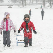 Kids in the winter snow © Viktor Levi | Dreamstime.com
