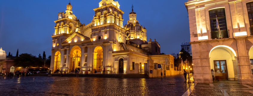 Córdoba Cathedral at night in Cordoba, Argentina © Diego Grandi | Dreamstime.com