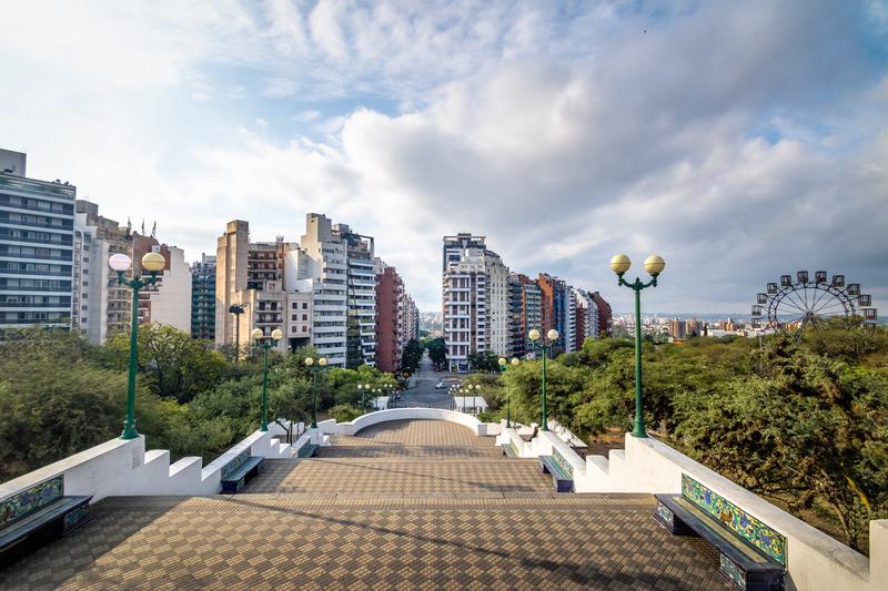 Sarmiento Park Stairs viewpoint Escaleras - Cordoba, Argentina. © Diego Grandi | Dreamstime.com