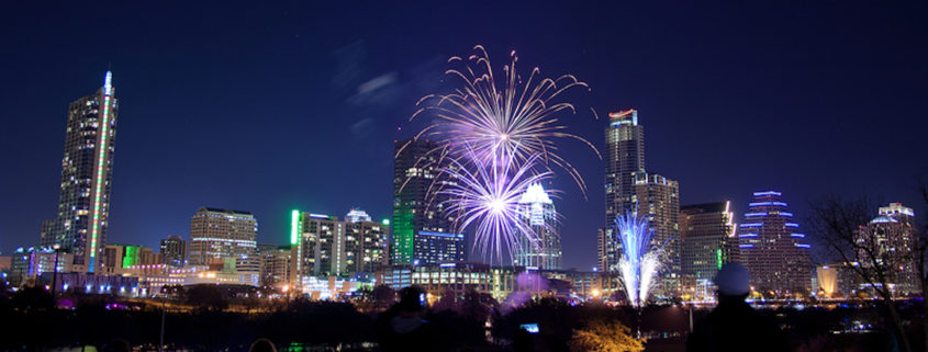 New Year's Eve celebrations in downtown Austin, Texas © Phillipaaron | Dreamstime.com