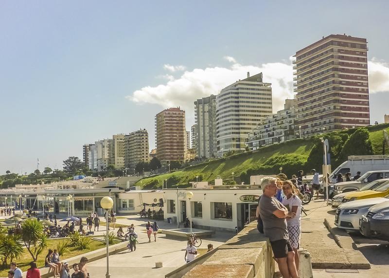 Mar del Plata Boardwalk along the beach