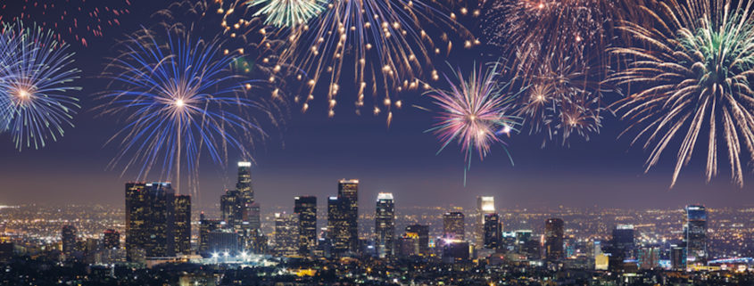 New Year's Eve fireworks in Downtown Los Angeles © Atmosphere1 | Dreamstime.com