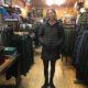 Kelsey in a Patagonia Black Coat © Maisie Baubie