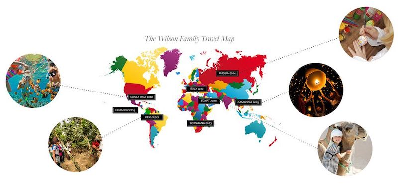 Family Travel Map © Global CommUnity