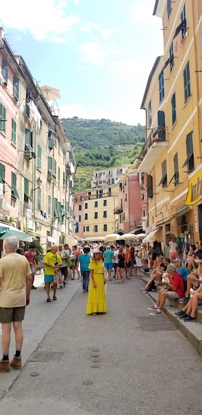 Vernazza's one main street is only accessible by pedestrians