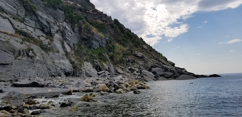 Vernazza's secret beach was uncovered after a flood washed away the rock that used to block it