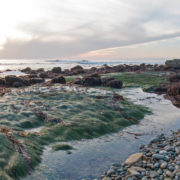 Sunset over Point Loma Tidepools at Cabrillo National Monument in San Diego