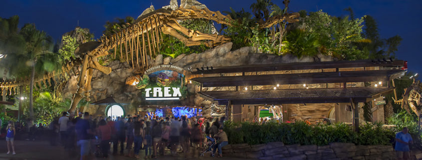 T-Rex Restauran in Disney Springs, Orlando, Florida © Tony Bosse | Dreamstime.com