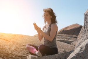 Meditation App for Travelers © Acnaleksy | Dreamstime.com