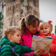 mother with two kids travel in Barcelona, Spain © Nadezhda1906 | Dreamstime.com